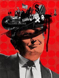 Michelle's personal response to the US elections. Mixed Media Collage, Collage Art, Satire, Propaganda Art, Political Art, Collage Design, A Level Art, Gcse Art, Graphic Design Illustration