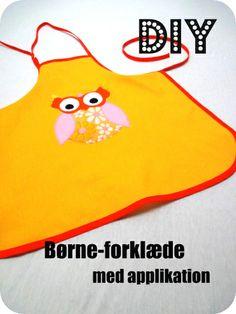 LaRaLiL: Børneforklæde med applikation - DIY