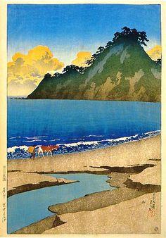 Iwai Seashore  by Kawase Hasui, 1920