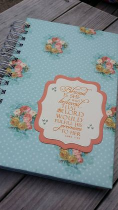 Check out this item in my Etsy shop https://www.etsy.com/listing/234169298/prayer-journal-with-scripture-stamped-on