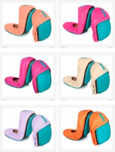 so many colorful patent leather Tieks flats!
