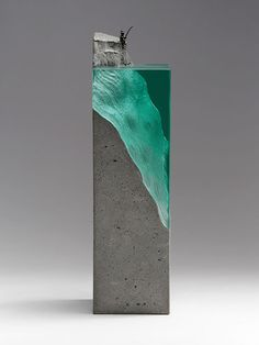 New series of layered glass sculptures by artist Ben Young.