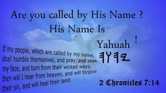His name is Yahuah...importance of his name, everything we do has to come through his name!! http://www.rebeccaatthewell.org/store/products/anointing-breaks-the-yoke/