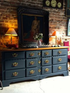 Stunning Vintage Sideboard Shabby Chic Very Large Chest of Drawers French