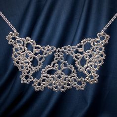 Opulence Silver Lace Necklace   13th Anniversary   MyGiftGenie