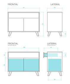 Furniture Plans, Wood Furniture, Furniture Design, Drawing Furniture, Joinery Details, Cabinet Design, Retail Design, Architecture Details, Woodworking Plans
