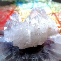 Self-Healed Elestial Quartz Cluster / Photo © www.VioletAura.com