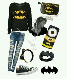 - Batman Clothing - Ideas of Batman Clothing - Nerd Outfits, Batman Outfits, Rock Outfits, Couple Outfits, Edgy Outfits, School Outfits, Batman Love, Batman Vs Superman, Batman Stuff