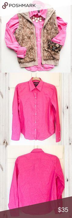 Bright Pink Non-Iron Polo Button Down Bright Pink Non-Iron Polo Button Down• A Must Have Timeless Piece• Non-Iron•NWT Ralph Lauren Tops Button Down Shirts
