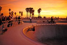 skate park is at Venice beach Cali. I'd like to go there and watch.