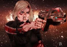 Mass Effect - FemShep - Love the HEAVY METAL feel of this work.