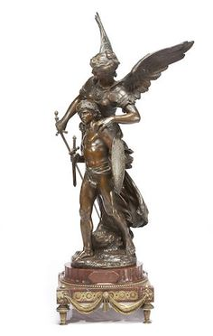 A French patinated bronze figural group, after Mathurin Moreau Gothic Gargoyles, Bronze Sculpture, Art Forms, Contemporary Furniture, 3 D, Furniture Design, Sculptures, Auction, Carving