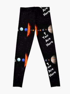 """Solar System Map"" Leggings by Solar System Map, Designers, Leggings, People, T Shirt, Supreme T Shirt, Tee Shirt, Map Of Solar System, People Illustration"