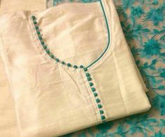 30 Stylish Potli button neck designs for kurtis and salwar suits | Bling Sparkle