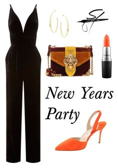 """New Years Party"" by sarah-raa on Polyvore featuring La Mania, Manolo Blahnik, Lana, MAC Cosmetics and Prada"
