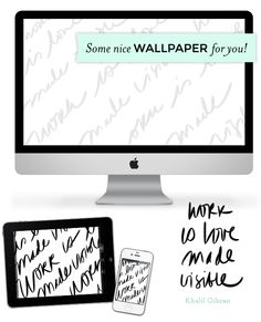 Work is Love Made Visible free download and wallpaper by Lauren Hardage for Aeolidia