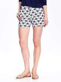 Women's Patterned Twill Shorts (5