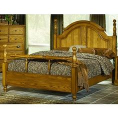 If your dream bedroom is simple clean old country charm with out the ginger bread, we encourage you to make the 525 New Oak Cherokee Poster Bed the focal point of your bedroom.