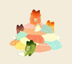 NKim Story Blog: TEA FOX DOODLES
