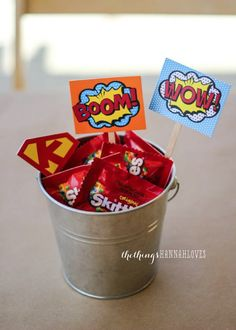 UP UP AND AWAY!!  Gear up for your next superhero party extravaganza!   I helped a friend this summer plan a superhero party for her son's 3...