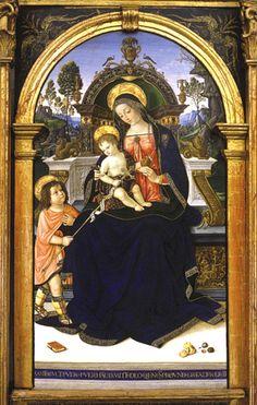 Pinturicchio - Pala s.Maria dei fossi. Perugia, Galleria Nazionale dell'Umbria.
