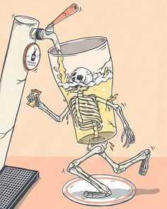 Its been busy for last few weeks for me. Finally all stuff done and having cruisy weekend. Keen to run into local pub and smash beers till… Skeleton Drawings, Skeleton Art, Cartoon Drawings, Cool Drawings, Graffiti Wallpaper Iphone, Beer Cartoon, Bottle Tattoo, Beer Art, Tour Posters