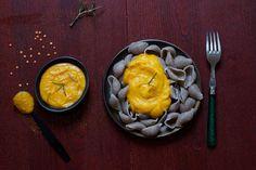 Pâtes à la dulse avec sa sauce crémeuse ensoleillée (végétalien)