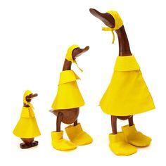 RECLAIMED TEAK WOOD RAIN DUCKS   duck decoy, wooden duck, art   UncommonGoods