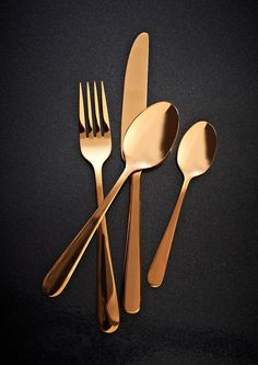 Viners Exclusive Rose Gold Titanium Cutlery Set 16pc