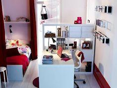 modernes Jugendzimmer Raumteiler Mädchen einrichten