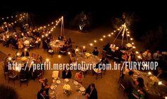 varal de luzes - cordão lâmpadas - iluminação casamentos 10m