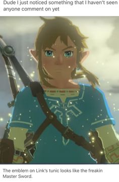 !!!!!!!!  UHHHHHHHHH WHAT  ...ok but wait we've seen that tunic a lot and not really the normal Green clothes  But we also know you don't start with that tunic  You get like an old pair of pants and a old shirt to start with  So how do we even get the tunic is the question