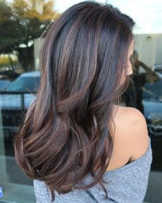 35 Balayage Hair Color Ideas for Brunettes in The French hair coloring tec. - 35 Balayage Hair Color Ideas for Brunettes in The French hair coloring technique: Balayage. Balayage Highlights, Hair Color Balayage, Ombre Hair, Caramel Highlights, Subtle Highlights, Brown Balayage, Haircolor, Highlights For Asian Hair, Subtle Bayalage