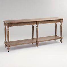 Everett Foyer Table   World Market, $255  I want this long thin foyer table sooooooo bad!