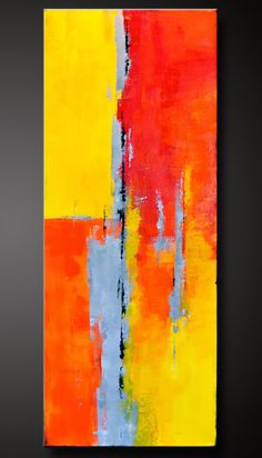 Adobe 2 - 18 x 36 - Abstract Acrylic Painting - Contemporary Wall Art - Original Canvas