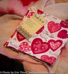 Stack'd Valentine's Day napkins, available at The Parlour at Neva Co, 400 Broad St., Nevada City, photo by Erin Thiem/Outside inn