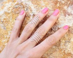 Knuckle Ring - Midi Ring - First Knuckle Ring - Jewelry - Stack Ring      Extremely versatile they can be worn in many different ways—stack them, mix