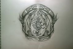 Sketch for the shoulder armor tattoo by TimHag.deviantart.com on @deviantART