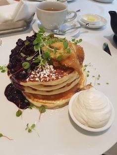 Blueberry Banana Pancakes from Sassafraz Toronto [720x960]