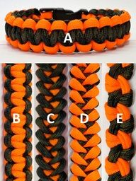 Hunting Orange Camo Seesaw Pinwheel Shark Jaw Bone Paracord Bracelet Made in usa