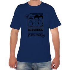 Camiseta hombre manga corta con corte amplio y tubular de cuello redondo. 100 % algodón. Ilustración de Mos Eisly#neondoodle# cazafantasmas