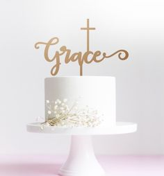 CommunicakeIt at pm. First Communion Cakes, First Communion Dresses, Baby Dedication Cake, Recuerdos Primera Comunion Ideas, Cross Cakes, Macarons, Baby Blessing, Custom Cake Toppers, Confectionery