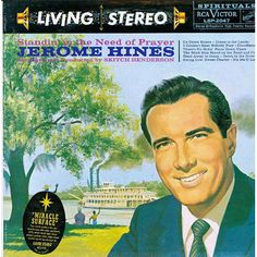 "Jerome Hines, ""Standin' in the Need of Prayer,"" album cover, 1960?"