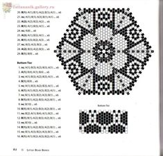Delta 2 - Other - Plans weaving beads - Treasury papers - Weave beaded jewelry, trees and flowers, circuits u Box Patterns, Seed Bead Patterns, Beaded Jewelry Patterns, Peyote Patterns, Beading Patterns, Crochet Snowflake Pattern, Bead Crochet, Beaded Boxes, Bracelets