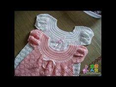 How to crochet dress Baby - YouTube