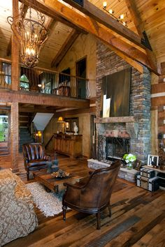 flexible log cabin interior design ideas for modern farmhouse or your tiny house design Log Cabin Living, Log Cabin Homes, Log Cabins, Cabin Interior Design, How To Build A Log Cabin, Log Home Designs, Cabin In The Woods, Boho Home, Timber House