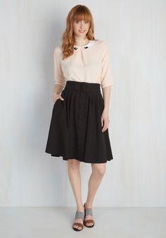 Intern of Fate Midi Skirt in Black, @ModCloth