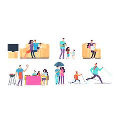 Family in daily activities mother father and vector image on VectorStock Cartoon Characters, Fictional Characters, Daily Activities, Mother And Father, Children, Kids, Vector Free, Family Guy, Illustration