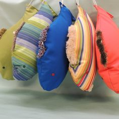 Cute gift idea, for anyone that owns a boat! Cute Gifts, Unique Gifts, Sunbrella Pillows, Fish Pillow, Gifts For Sailors, Boater, Mesh Fabric, Nifty, Baby Car Seats