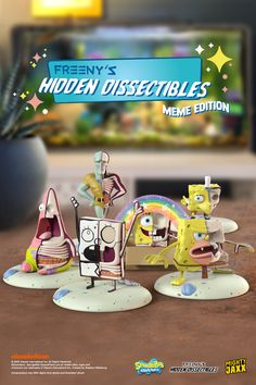 Introducing Freeny's Hidden Dissectibles: SpongeBob SquarePants (Meme Edition)! The fun new blindbox collection featuring all our favourite SpongeBob memes. Coming soon on 21 Oct, 9am EST.